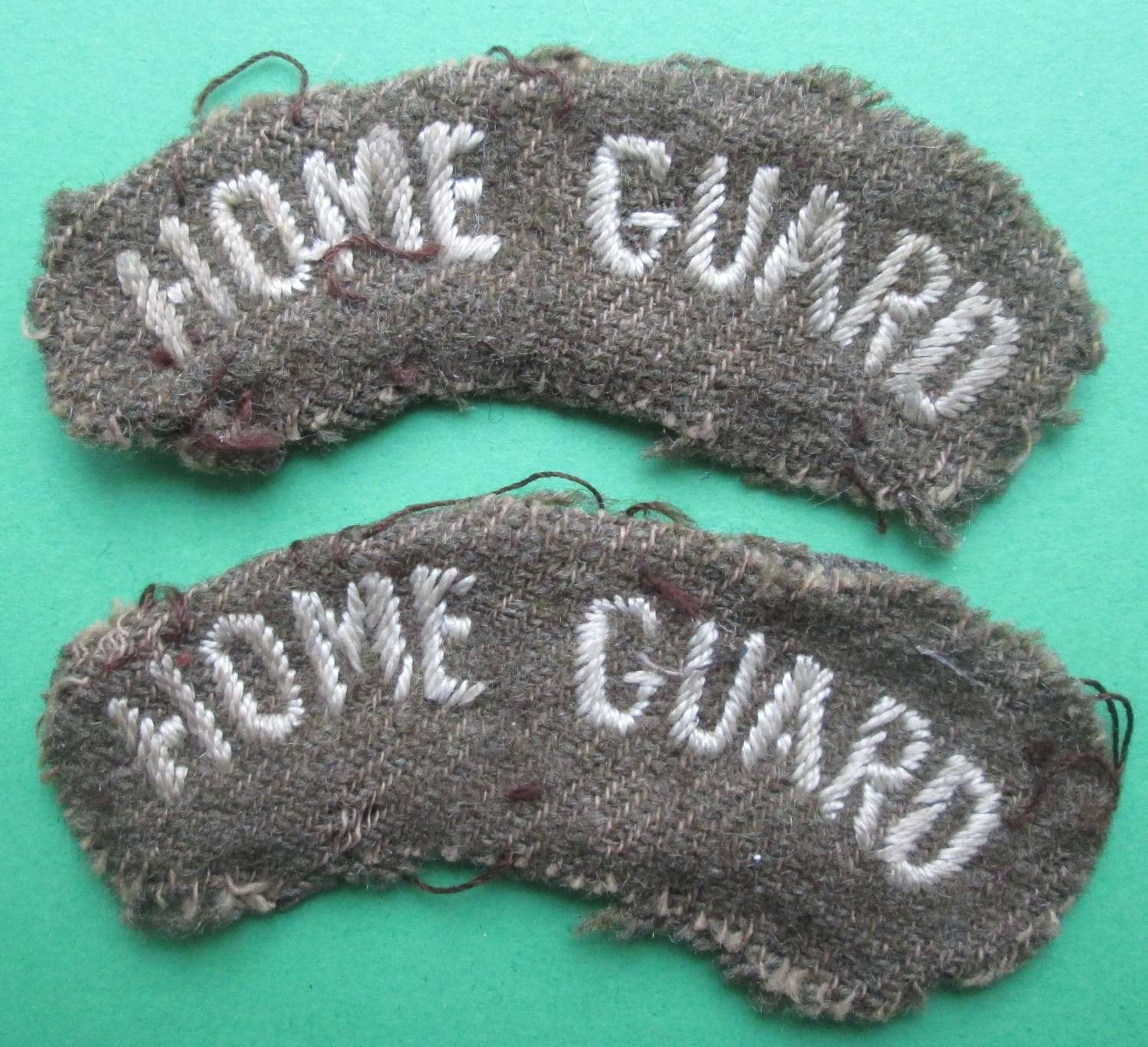 A PAIR OF RARE EARLY HOME GUARD TITLES