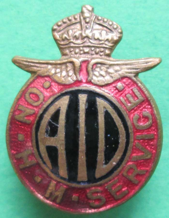 A SMALL PIN BADGE FOR THE AIR INSPECTOR DEPARTMENT