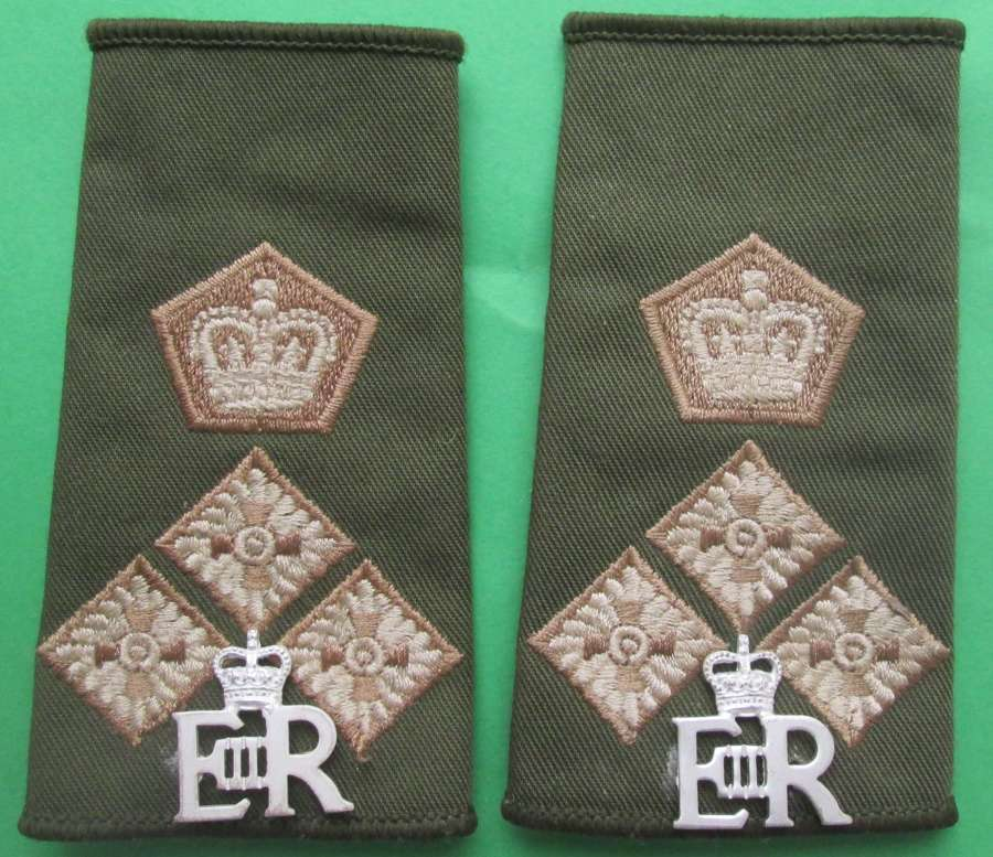 A PAIR OF 1970'S / 80'S AID DE CAMP TO THE QUEEN OFFICERS SLIDES