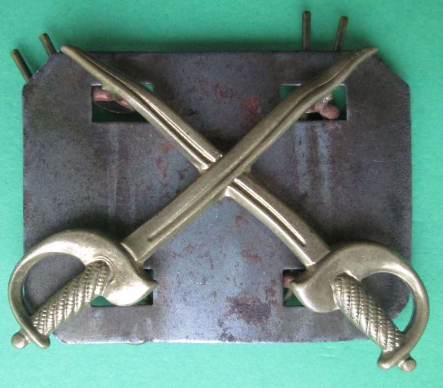 A METAL ARMY PHYSICAL TRAINING CORPS STAFF BADGE