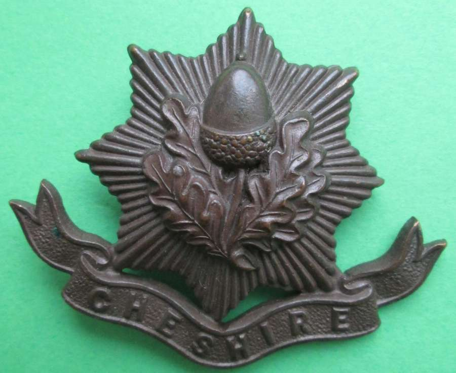 A CHESHIRE REGIMENT OFFICERS BRONZE BADGE