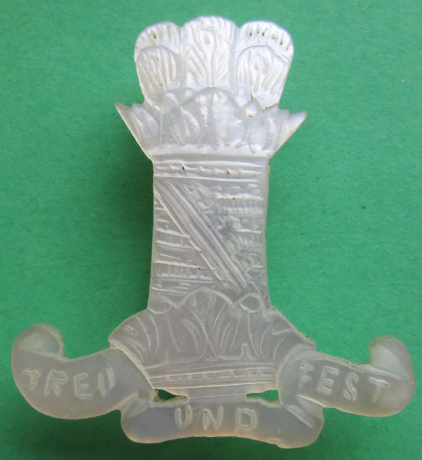 AN ELEVENTH HUSSARS MOTHER OF PEARL SWEETHEART BROOCH