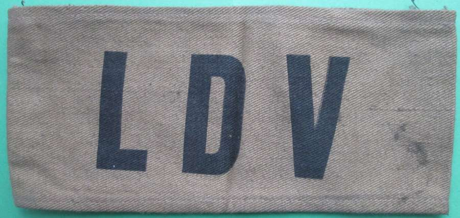 A WWII LOCAL DEFENCE VOLUNTEER L.D.V. ARM BAND