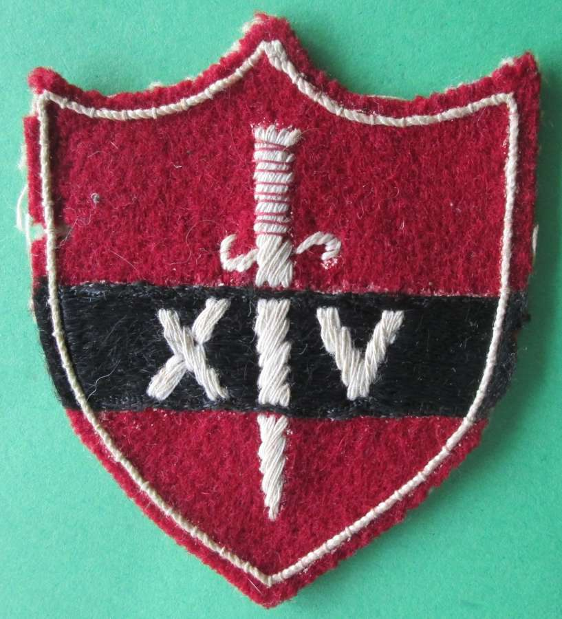 A WWII 14TH ARMY FORMATION PATCH