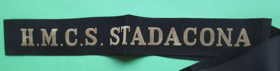 A H.M.C.S.STADACONA CAP TALLY