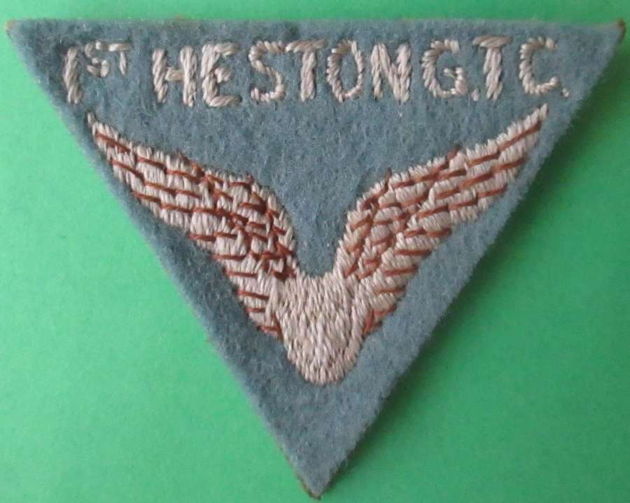A 1ST HESTON GIRLS TRAINING CORPS FELT BADGE
