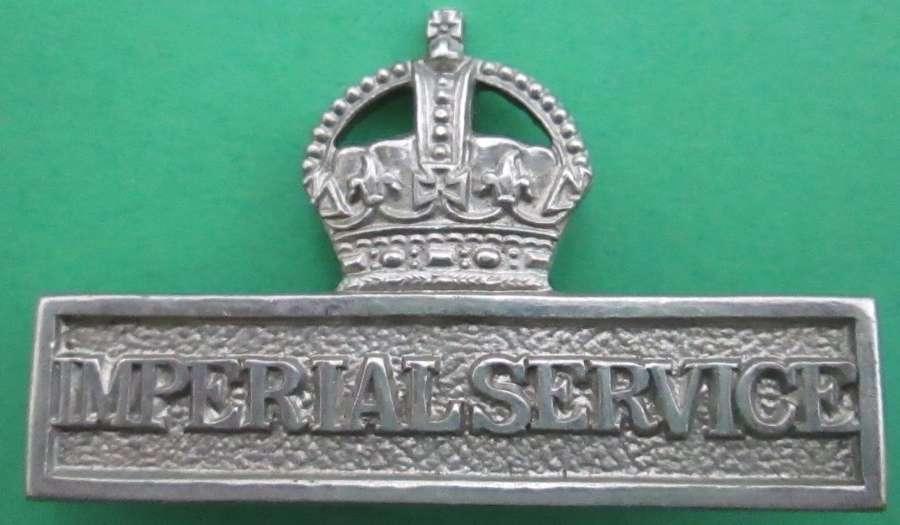 A WWI PERIOD IMPERIAL SERVICE BREAST BADGE