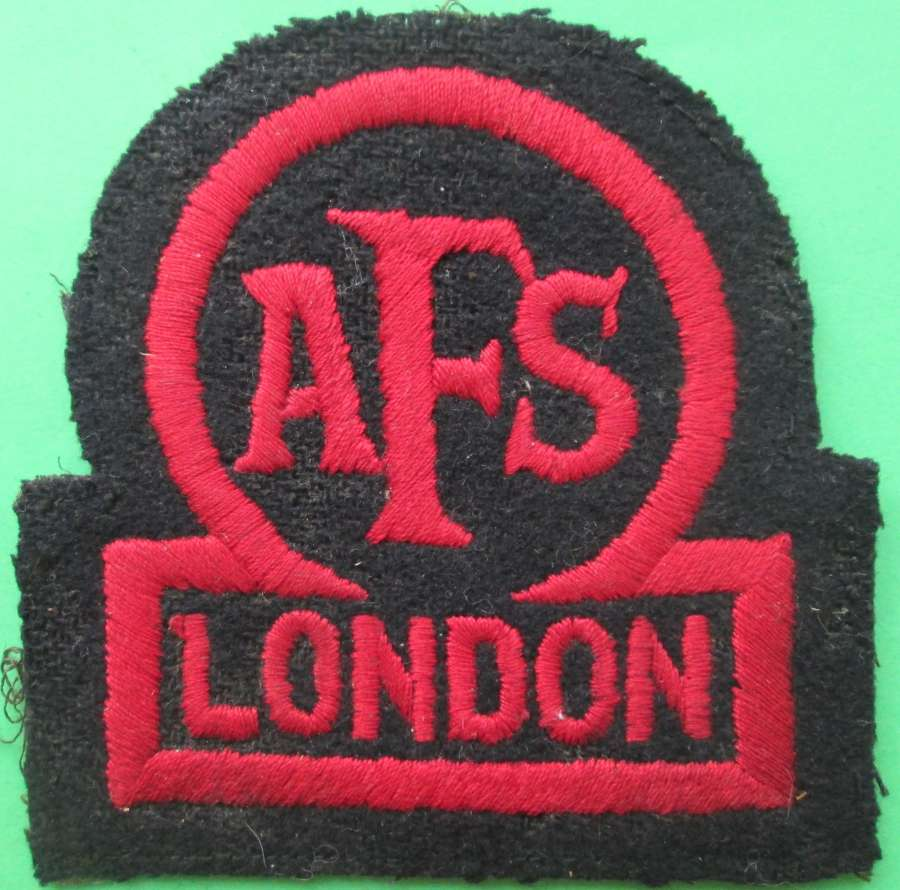 AN AUXILLARY FIRE SERVICE BADGE FOR LONDON