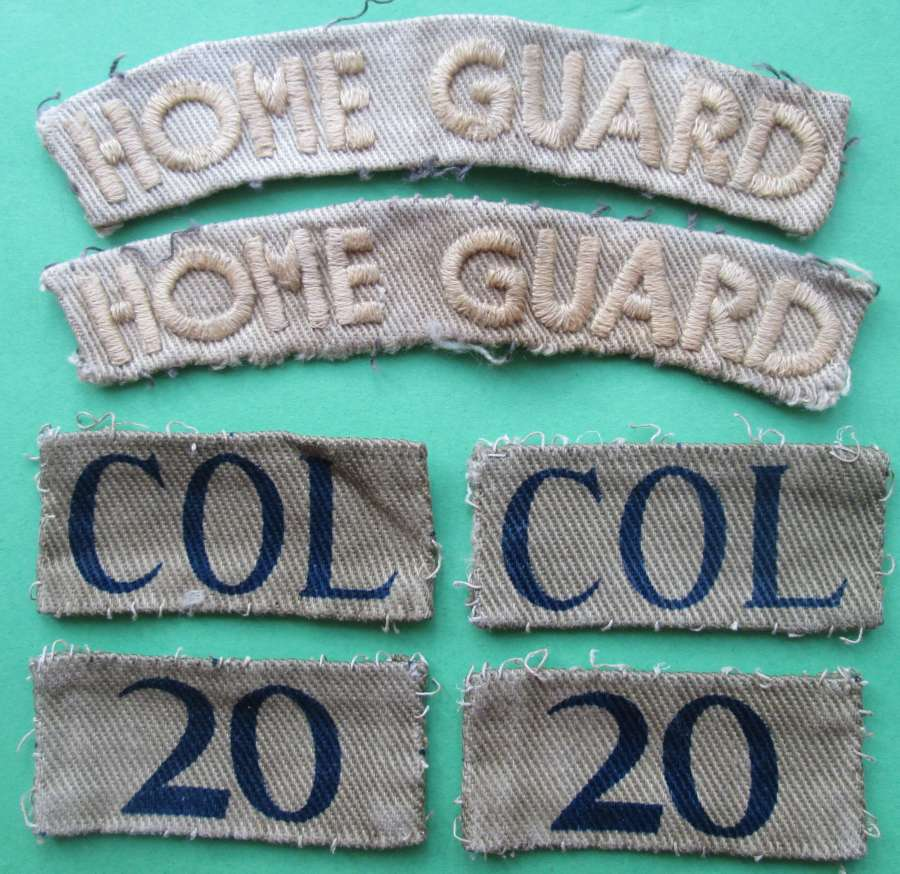 A SET OF HOME GUARD TITLES