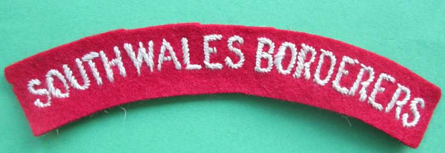 SOUTH WALES BORDERERS SHOULDER TITLE
