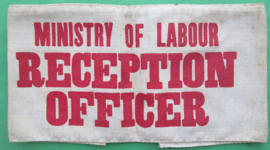A MINISTRY OF LABOUR RECEPTION OFFICER