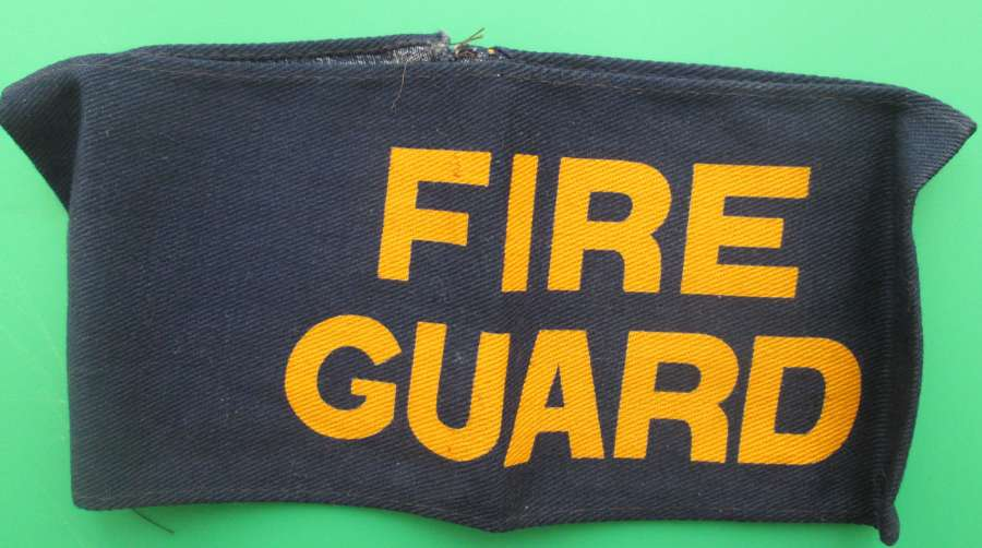 AN EARLY WWII FIRE GUARD PARTY ARMBAND