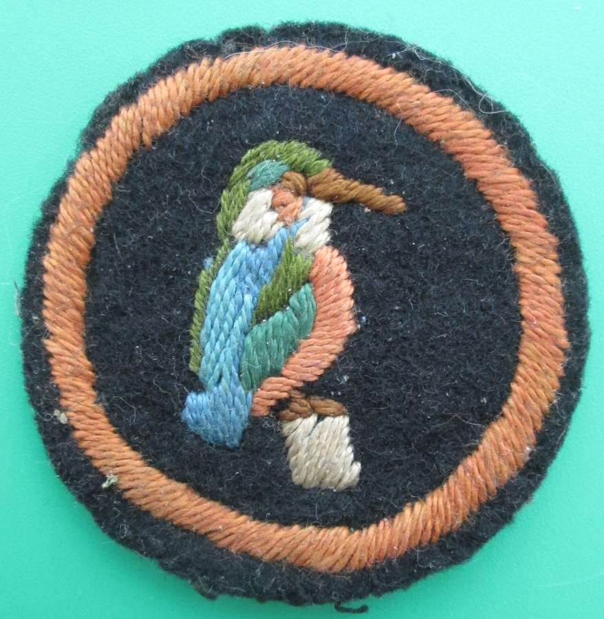 A GIRL GUIDE KINGFISHER PATCH