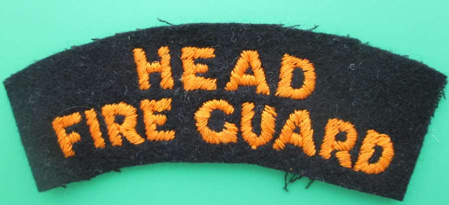 A HEAD FIRE GUARD SHOULDER TITLE