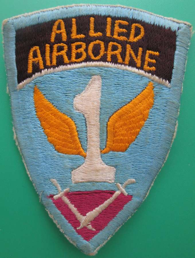 A WWII 1ST ALLIED AIRBORNE US MADE ARM BADGE