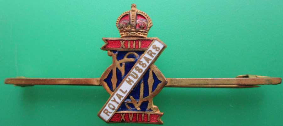 A HUSSARS PIN BROOCH