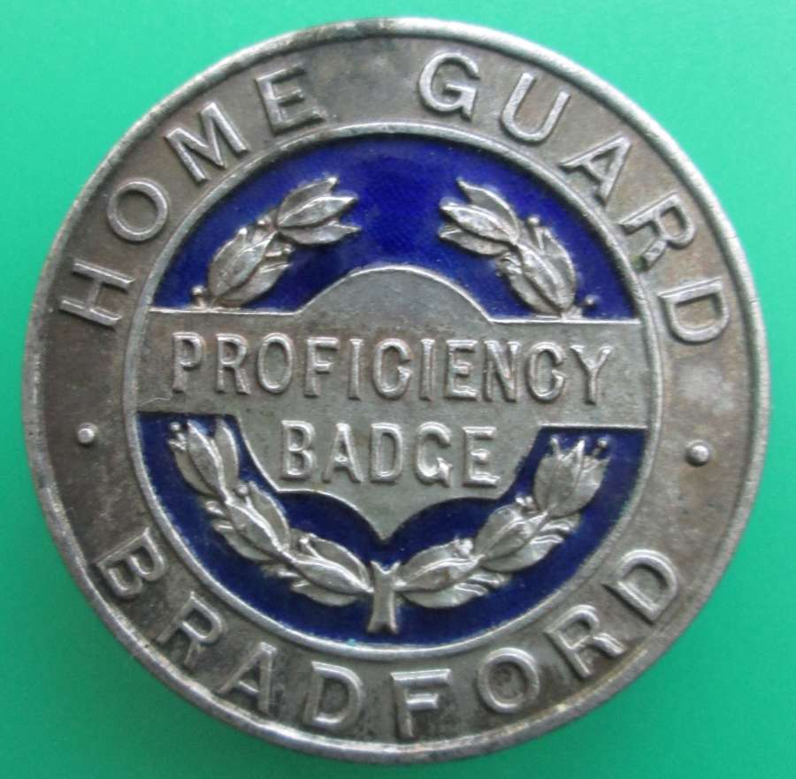 A BRADFORD HOME GUARD BADGE