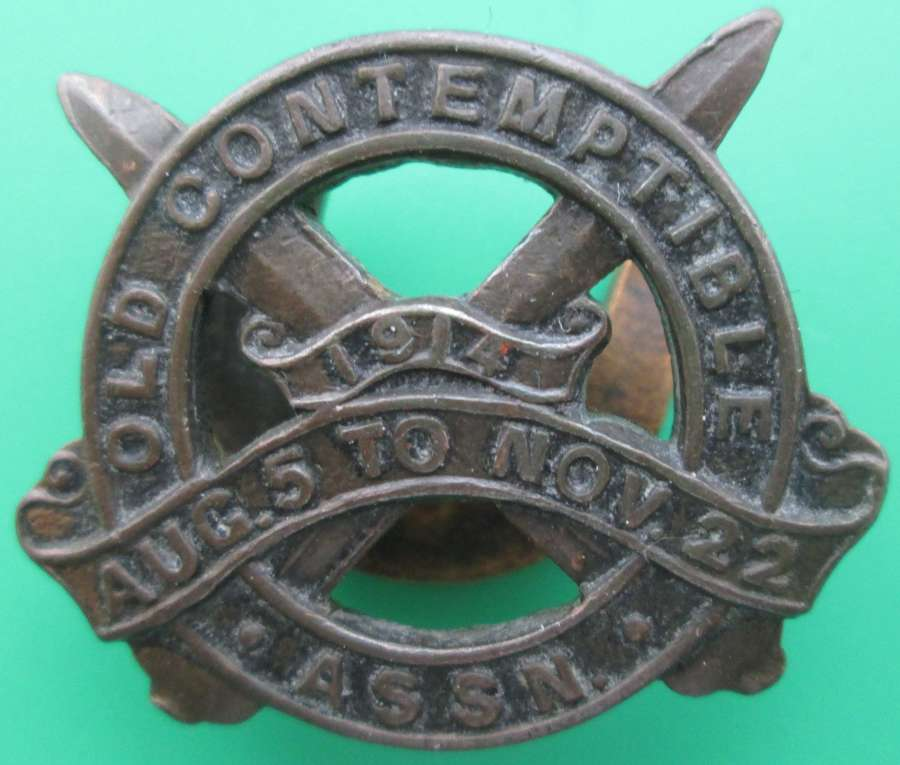 AN OLD CONTEMPTIBLE BADGE