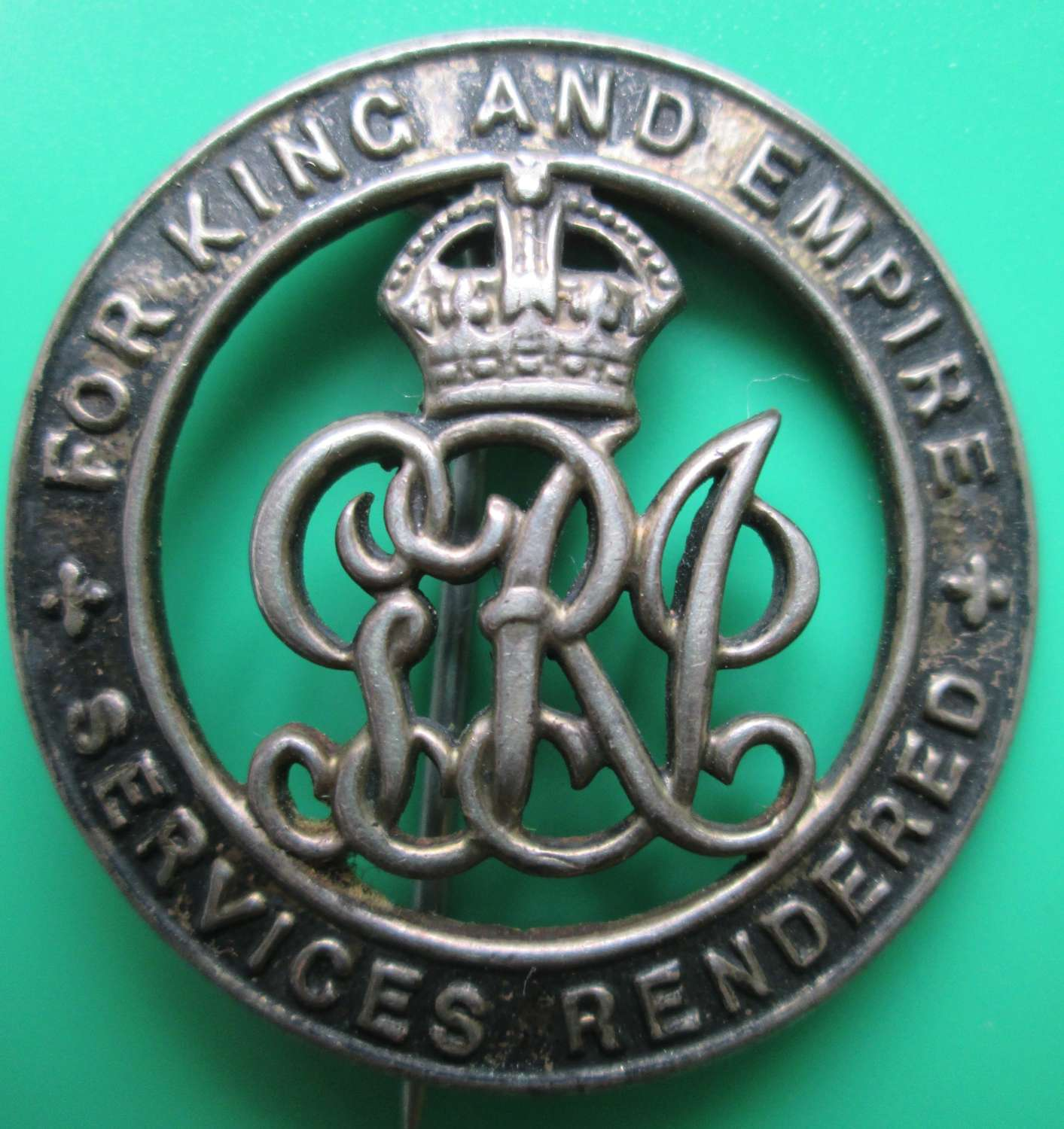A WWI PERIOD SILVER WOUND BADGE
