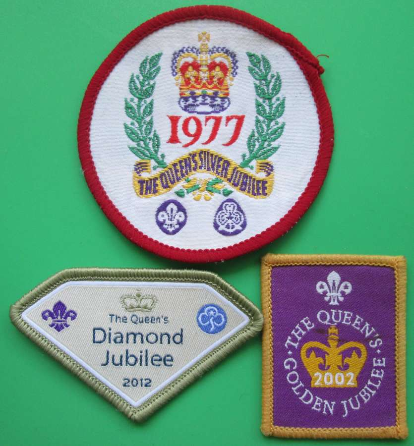 THREE COMMEMORATIVE PATCHES FOR THE QUEEN'S JUBILEE