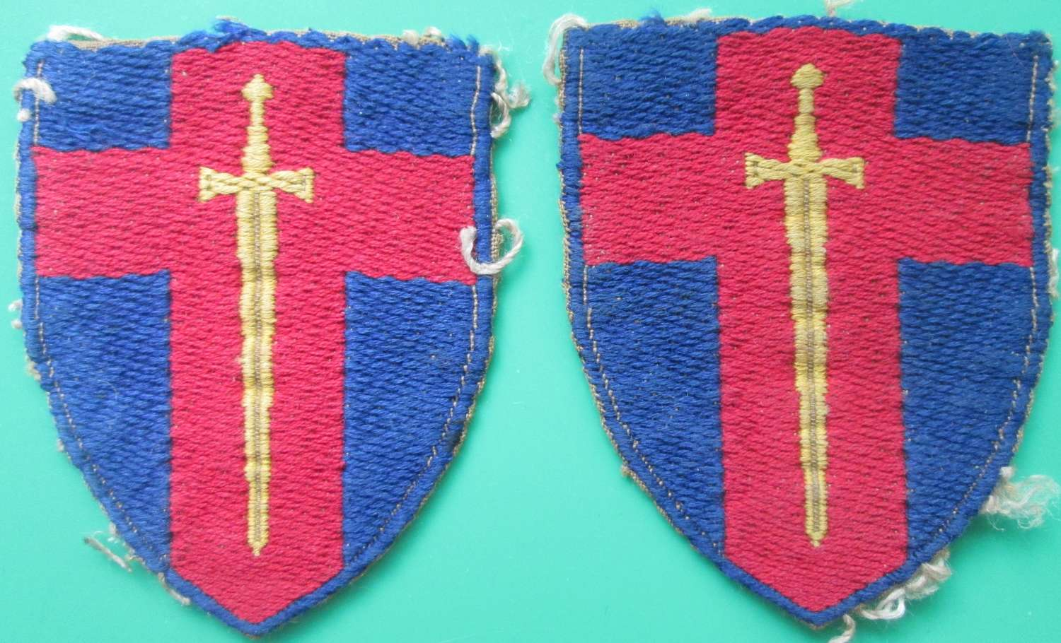 A PAIR OF RHINE ARMY TROOPS FORMATION SIGNS