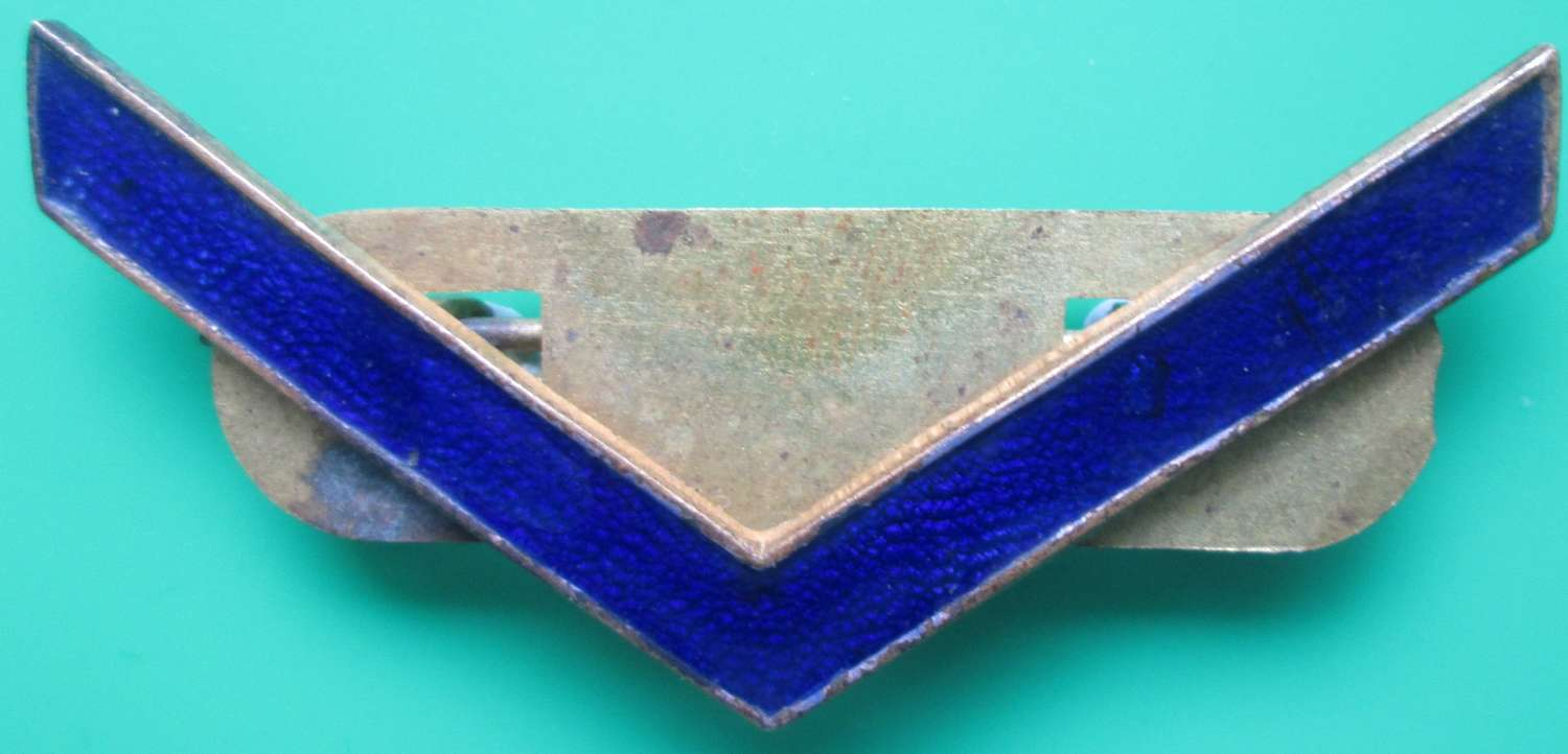 A WWI METAL WAR SERVICE STRIP IN BLUE