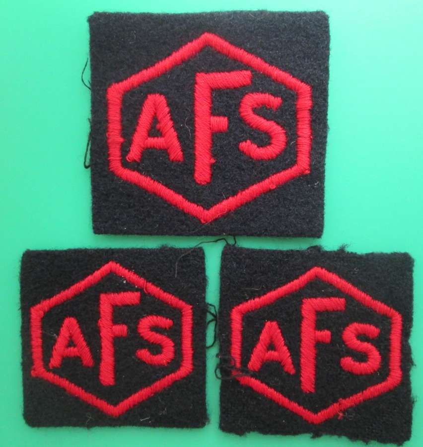 A GOOD SET OF AUXILLARY FIRE SERVICE PATCHES