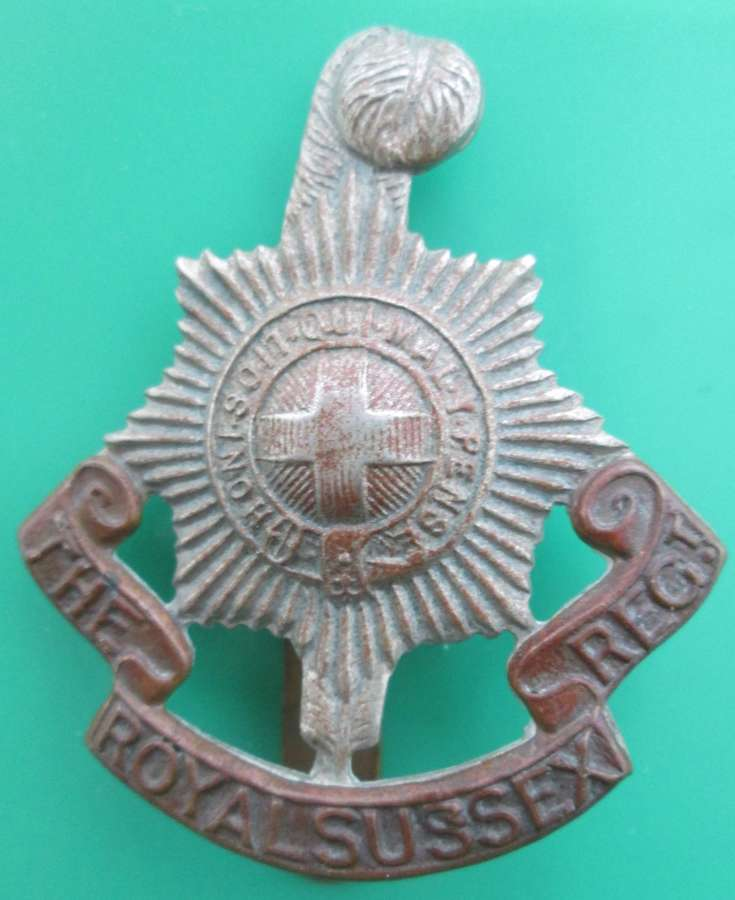 CAP BADGE FOR THE ROYAL SUSSEX REGIMENT