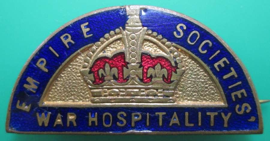 AN EMPIRE SOCIETIES WAR HOSPITALITY PIN BADGE