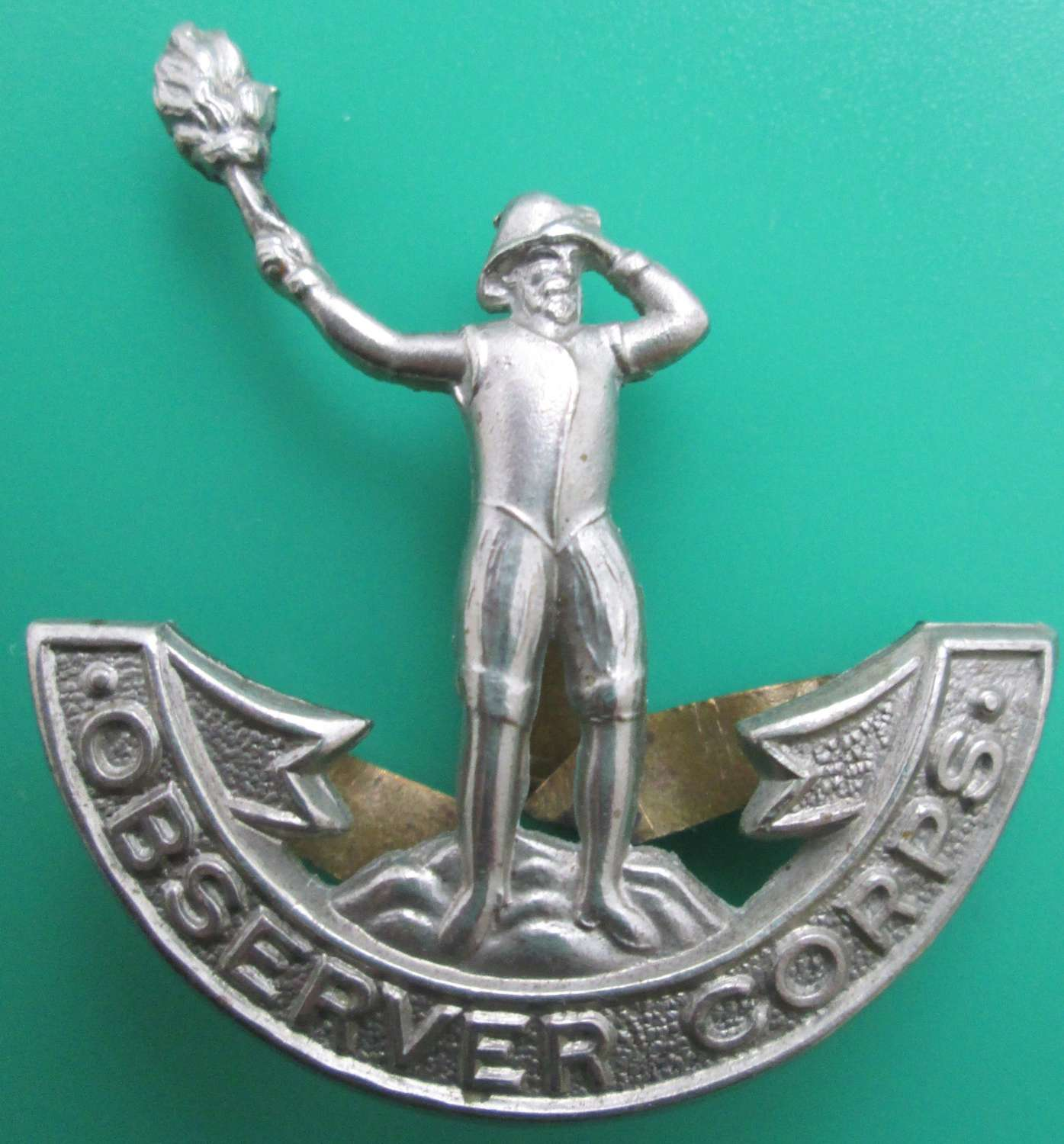 A GOOD EARLY WAR OBSERVER CORPS OTHER RANKS CAP BADGE