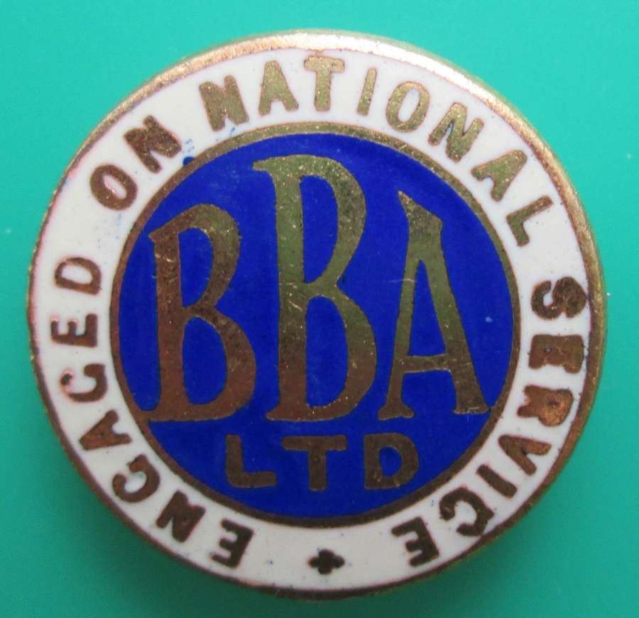 ENGAGED ON NATIONAL SERVICE PIN BADGE FOR BBA LTD