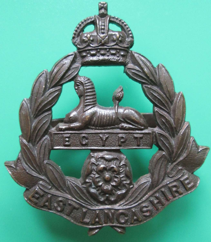 AN OFFICERS EAST LANCASHIRE REGT OFFICERS CAP BADGE