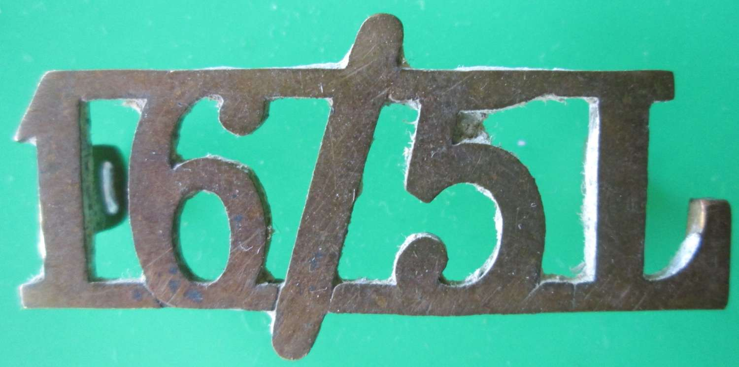 A 16/5 LANCERS SHOULDER TITLE