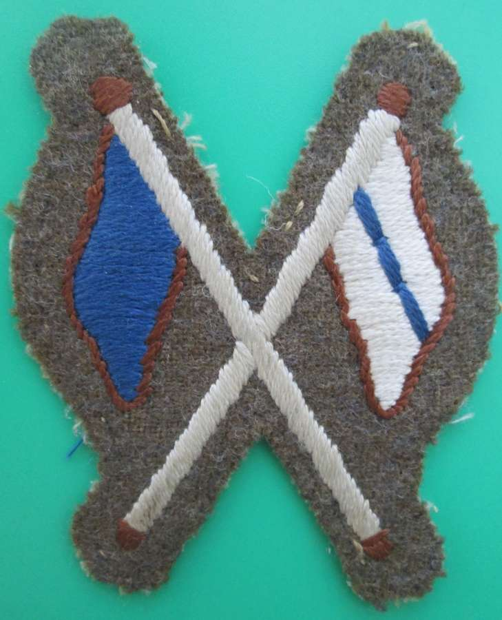 A SIGNALLERS BADGE