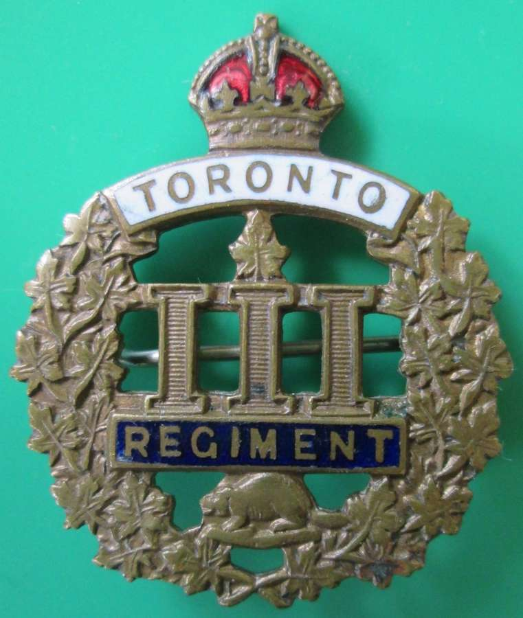 A 111TH TORONTO REGIMENT SWEETHEART BROOCH