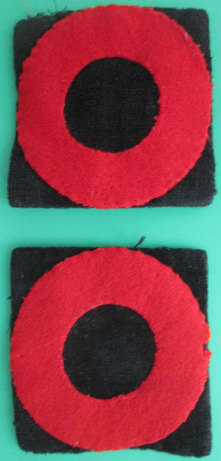 A PAIR OF 72ND INDIAN DIVISION FORMATION PATCHES PRICE IS EACH