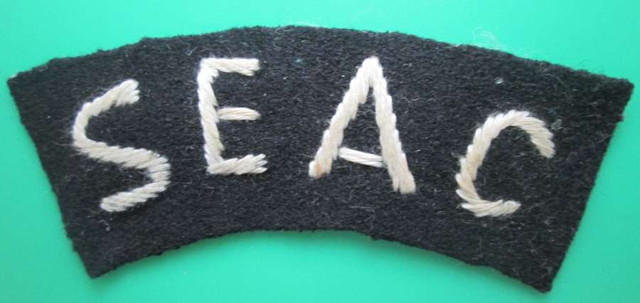 A WWII SOUTH EAST ASIA COMMAND SHOULDER TITLE
