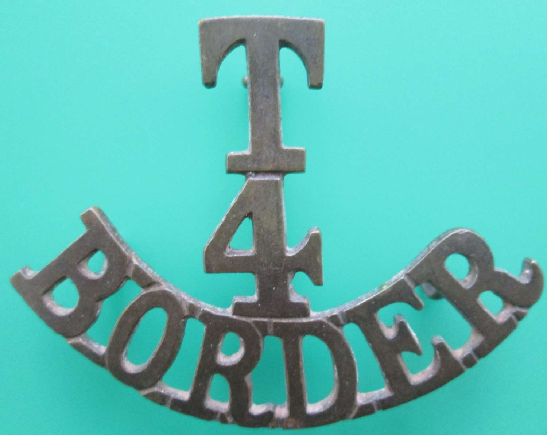 A BORDER REGIMENT 4TH TERRITORIALS SHOULDER TITLE
