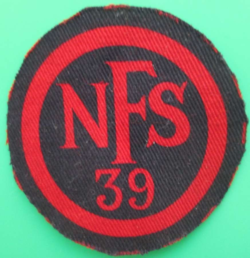 A NATIONAL FIRE SERVICE 39 PATCH