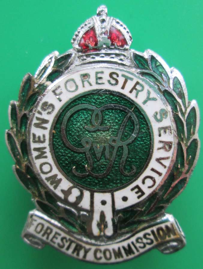 A WOMEN'S FORESTRY COMMISSION PIN BROOCH
