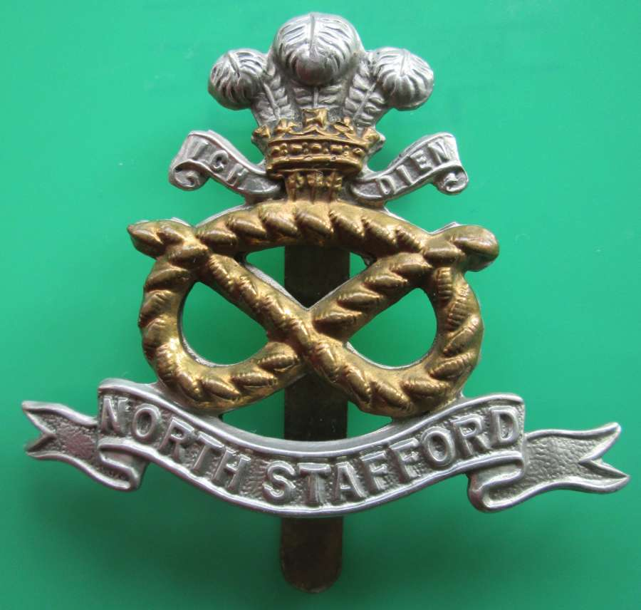 A NORTH STAFFORD CAP BADGE
