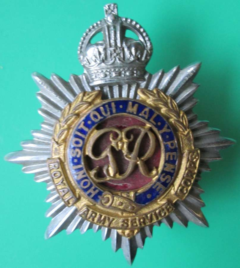 A ROYAL ARMY SERVICE CORPS OFFICERS BADGE