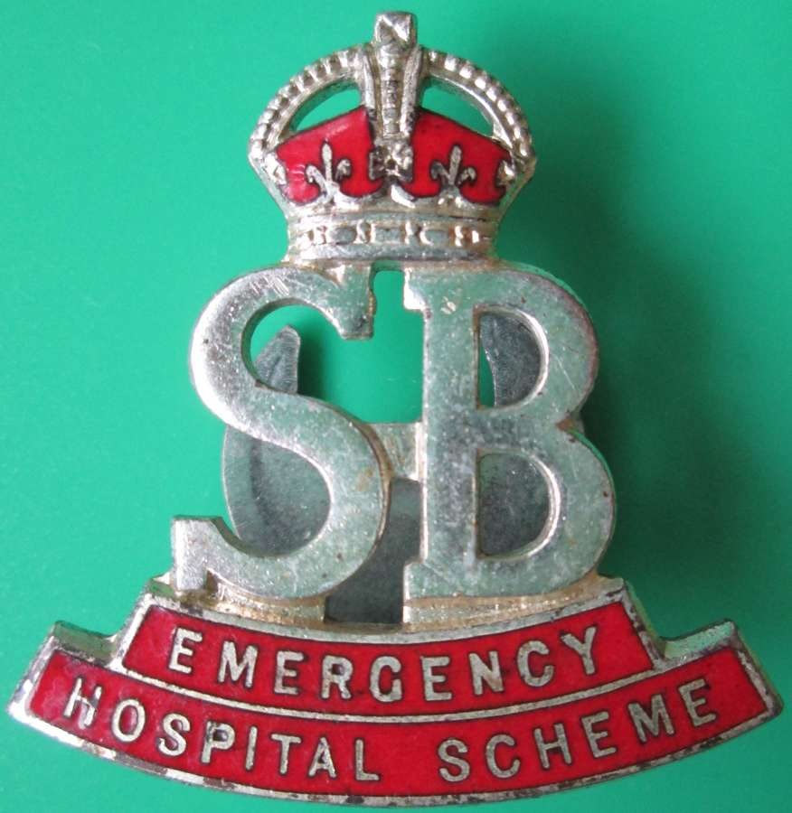 A LAPEL BADGE FOR STRETCHER BEARERS,THE EMERGENCY HOSPITAL SCHEME