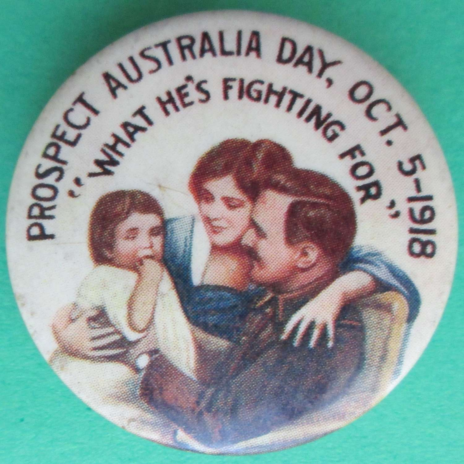 A WWI AUSTRALIAN OCTOBER 1918 PROSPECT DAY BADGE