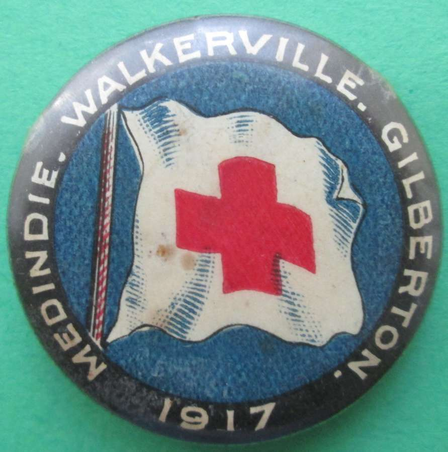 A GOOD EXAMPLE OF THE WWI AUSTRALIAN RED CROSS DAY BADGE