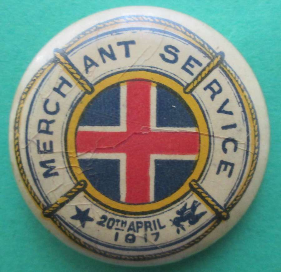 WWI AUSTRALIAN MERCHANT NAVY DAY BADGE 20th APRIL 1917