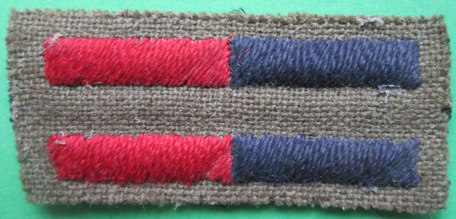 A GOOD WWII  UNCUT PAIR OF THE RA OR RE ARM OF SERVICE STRIPS