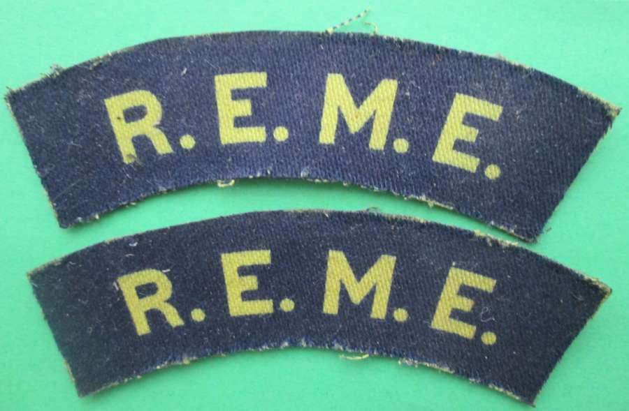 A PRINTED PAIR OF WWII ROYAL ELECTRICAL MECHANICAL ENGINEERS TITLES