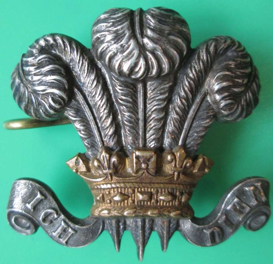 A WILTSHIRE YEOMANRY OFFICERS CAP ( SIDE CAP ) / COLLAR BADGE