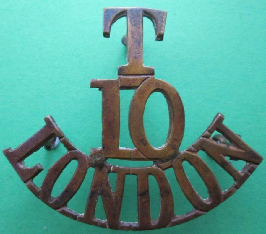 TERRITORIALS 10TH LONDON REGIMENT (HACKNEYS)